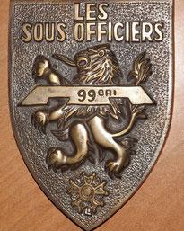 Plaque souvenir, remise aux sous-officiers quittant le régiment. Datation inconnue (Fonds JM CHARMET).