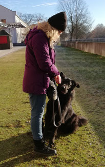 Brigitta & Blacky beim Training