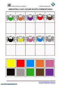 Arrastrar según el color