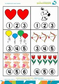 Concepto de cantidad 1-6