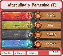 Masculino y Femenino (I)