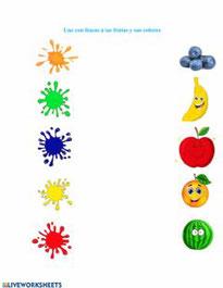 Los colores y las frutas