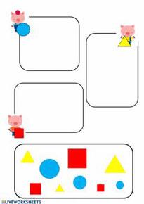 Clasifica las formas geométricas