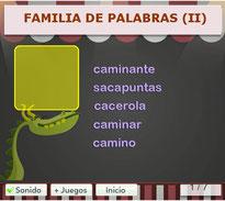 FAMILIA DE PALABRAS (II)