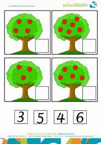 Los números del 3 al 6