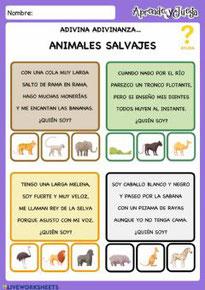 Adivinanzas animales salvajes