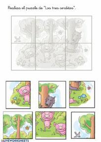 Puzzle -Los tres cerditos-
