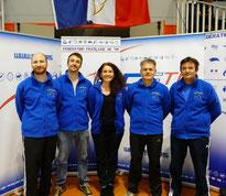 composition équipe pistolet : Erwann, Pierre, Carole, Eric, Thierry