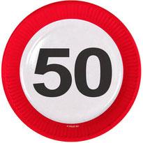 Bordjes 50 verkeersbord €3,50 8stuks