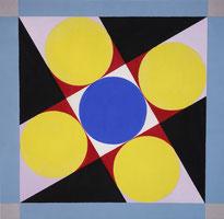 Ellen Roß, konkret, geometrisch, Sangaku, squares, circles