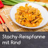 Stachy Reispfanne mit Rind Rezept