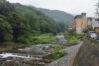 あじさい橋からの早川の眺め