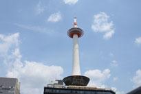 京都タワー100mの展望台からは京都の街を一望することができます。