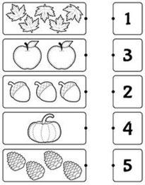 Užduotėlės su skaičiais nuo 1 iki 10