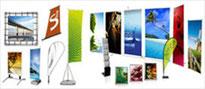 Displaysysteme von BlackStone Werbetechnik in Luzern