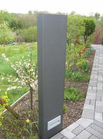 Stelen, Zaun, Sichtschutz, Raumteiler, Licht, Metall, Gartendeko, Beleuchtung