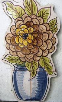 "Art._Nr.:PN-173 "" Blumentopf 1"", Masse: 42cm x 28cm"
