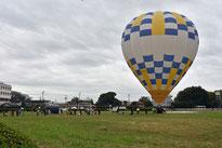 熱気球で大空体験