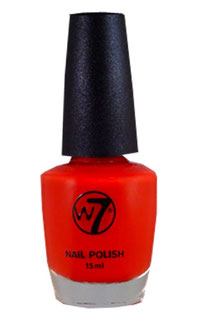 W7 Nagellack red