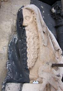 Parler Figur, 1374, Ulmer Münster, Zwischenzustand