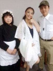 左から、アリス 栗田かおりさん、ビオラ 私、沿岸警備隊 古関翔太さん