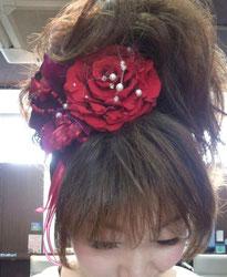 仙台の美容室で盛ヘアー
