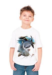 enfant pêche silure