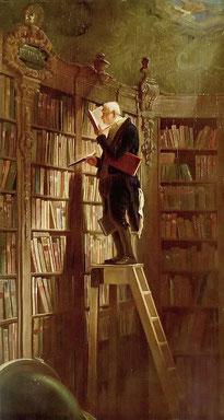 Carl Spitzweg, Der Bücherwurm, um 1850, Öl auf Leinwand, Museum Georg Schäfer, Schweinfurt