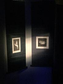 右は1970年代、左は最近の作品。 35年の時を経た表現の変遷。