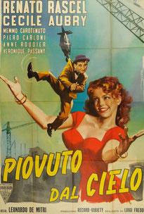Affiche du film Piovuto dal cielo 1953 avec Cécile Aubry