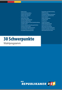 REP Wahlprogramm 30 Punkte
