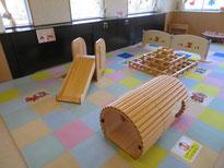 現在プレイルームであそべる「木育遊具」の画像です。