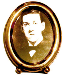 portrait médaillon Howard Phillips Lovecraft