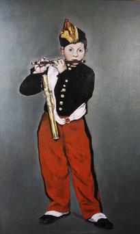 笛を吹く少年(模写):M50号