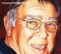 Portrait (détail) à l'huile d'après photo, Christine FRAGA FRÉNOT
