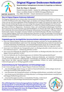 Zertifikat Original Rügener Dreikronen-Heilerde