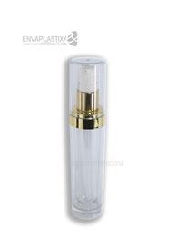 botella cilindrica de acrílico, envases cosméticos de acrílico