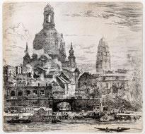 Frauenkirche und Rathaus Dresden um 1919