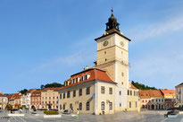 Piata Sfatului, the central place of the city of Brasov.