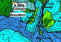 Géologie autour de Beaurières. Marc B.