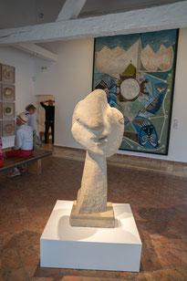 Bild: Skulptur von Pablo Picasso im Musée Picasso in Antibes