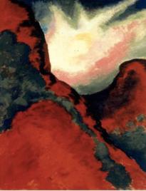 《赤い風景》1916-1917年