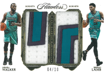 KEMBA WALKER & JEREMY LAMB / Dual Patch - No. DD-WL  (#d 4/10)