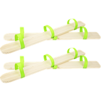 2 Paires de skis coordonnés