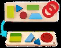 Formes géométriques - réversible - Hape - 6 pièces