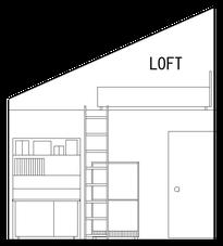 6帖部屋とロフトの断面