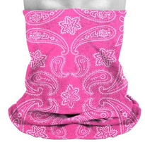 Multifunktionstuch Paisley pink