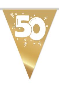 Vlaggenlijn 50 gouden huwelijk 10 m € 2,50