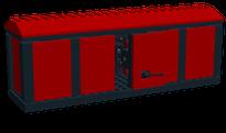 Lego-Eisenbahn MOC Güterwaggon gross