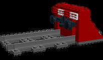 Lego-MOC Gleisabschluss Prellbock